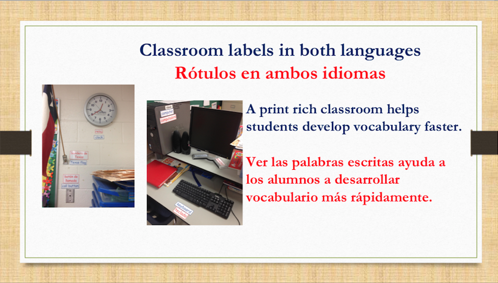 Dual language slide 4