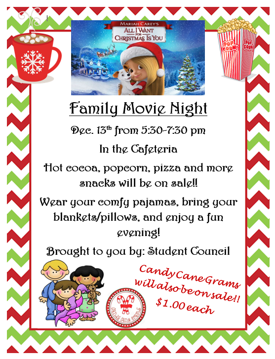 Family Movie Night sponsored by Student Council Featured Photo