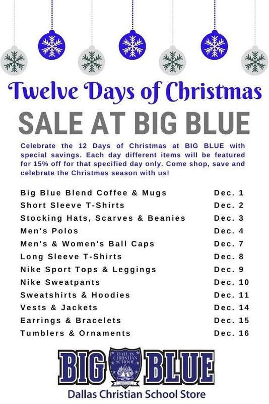 Big Blue Twelve Days of Christmas Sale Featured Photo