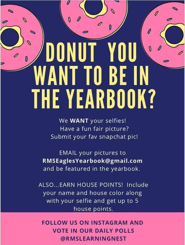 The RMS Yearbook Staff needs your pictures! Featured Photo