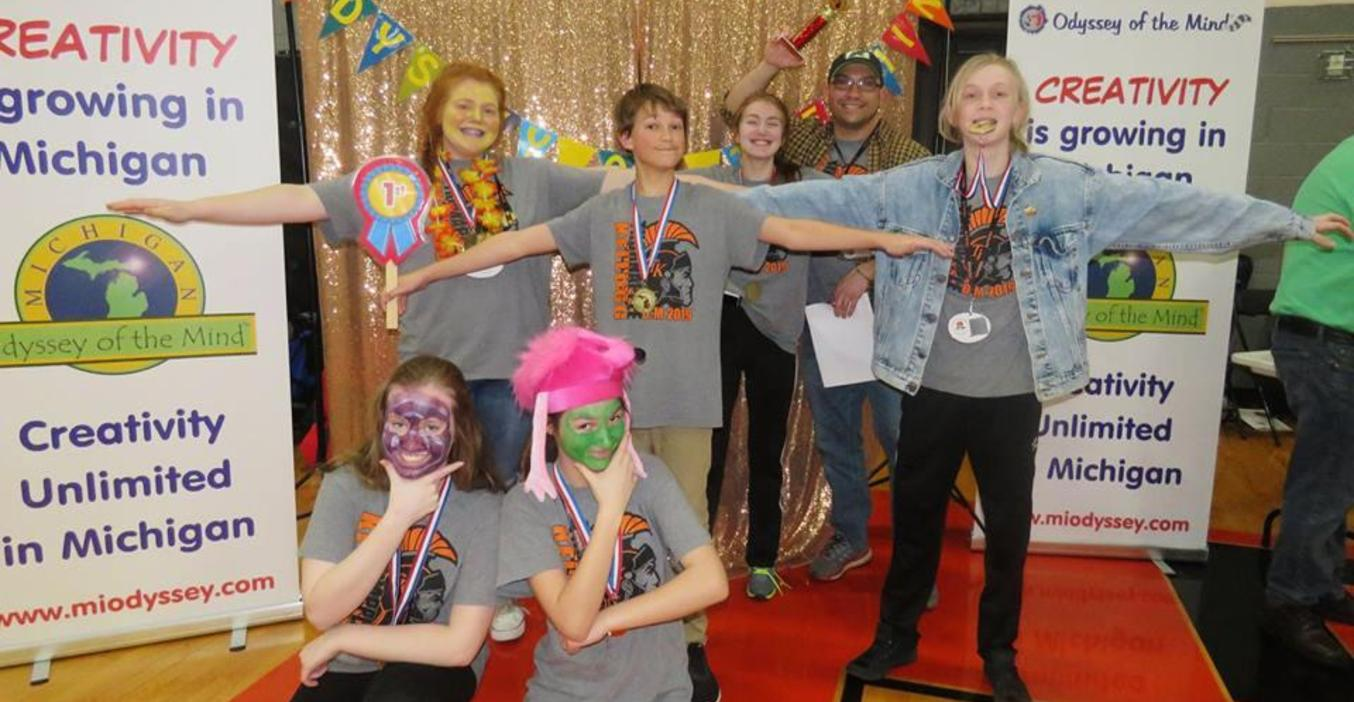 This TKMS Odyssey of the Mind team advanced to the world finals.