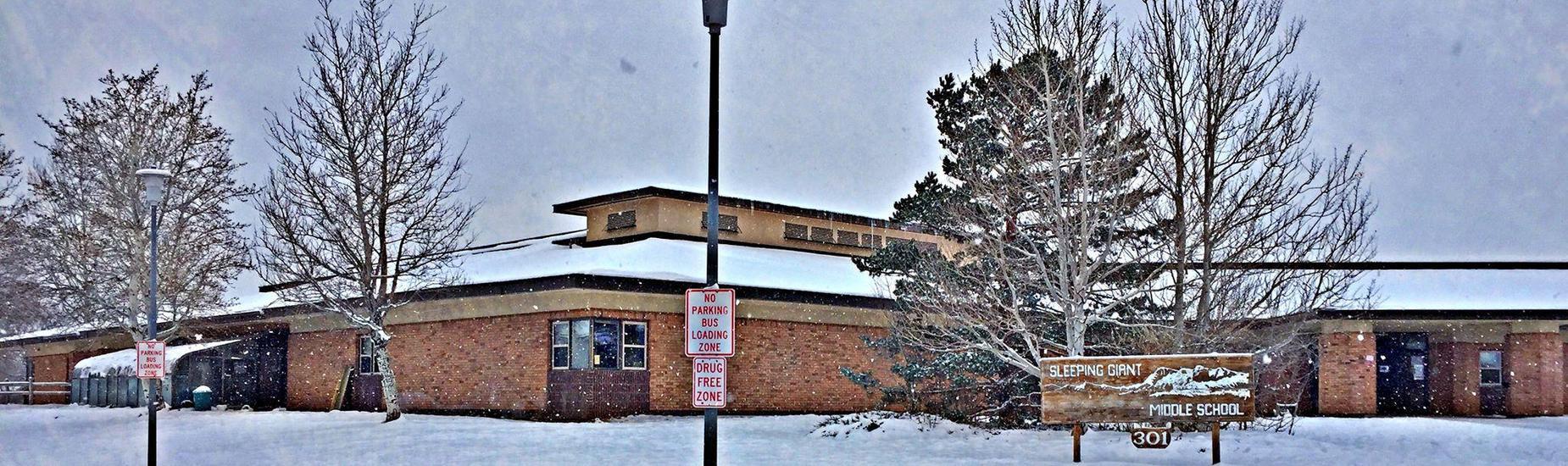 Entrance of Sleeping Giant Middle School