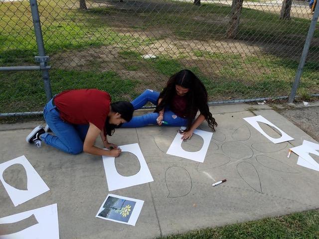 Roosevelt Sidewalk Painting