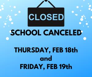 schools closed logo