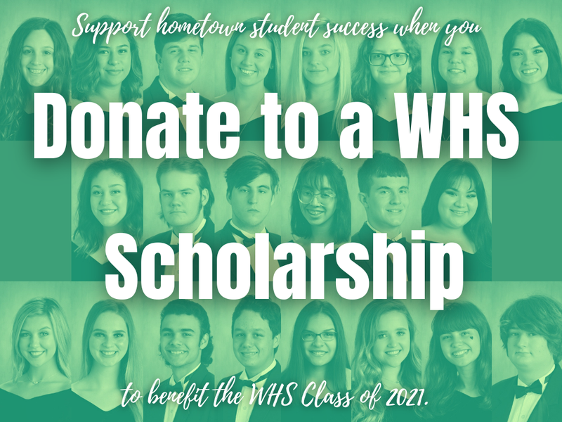 Pledge to Donate to WHS Scholarships! Featured Photo