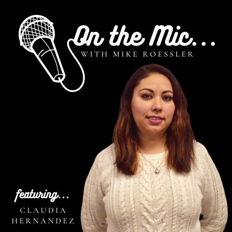 On the Mic logo with Claudia pictured