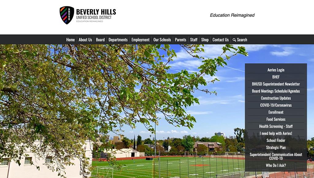 website for Beverly Hills USD