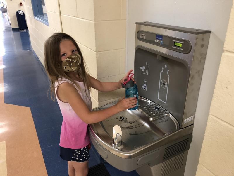 Our New Water Bottle Filling Station