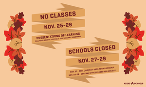 school closure thanksgiving graphic