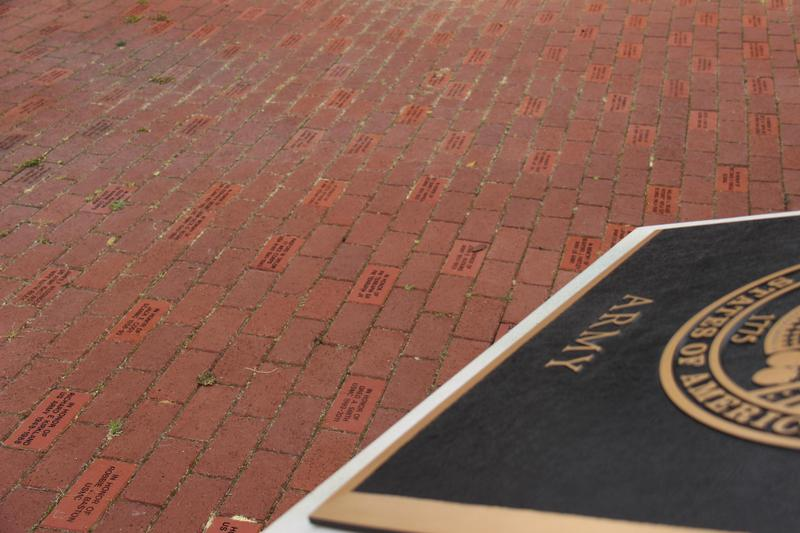 Engraved bricks line the plaza at the Batesburg-Leesville Armed Forces Monument on Armory Street.  The B-L High School JROTC is currently selling the engraved bricks. More information and an order form can be found by visiting http://blhs.lex3.org/ and looking under the JROTC section of the Departments tab.