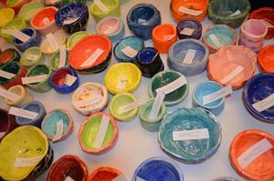a photo of a collection of colorful ceramic bowls