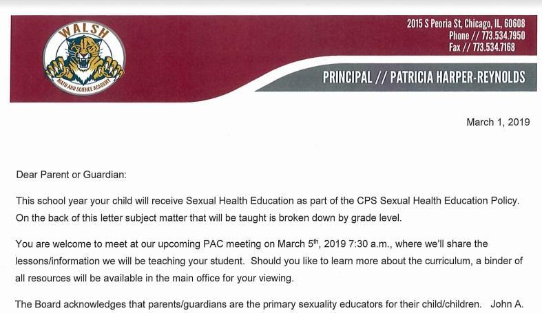 Sexual Health Education Letter to K-8 Parents - English y espanol Featured Photo