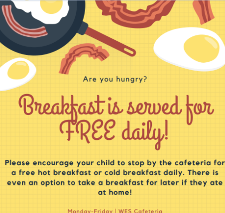 WES breakfast and lunch free