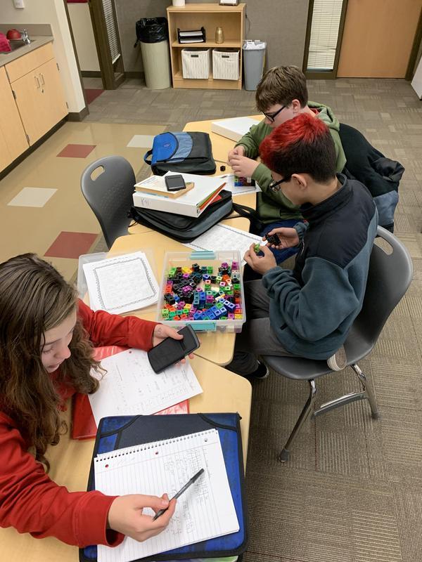Hornstein's Math Extension Class Hard at Work! Thumbnail Image