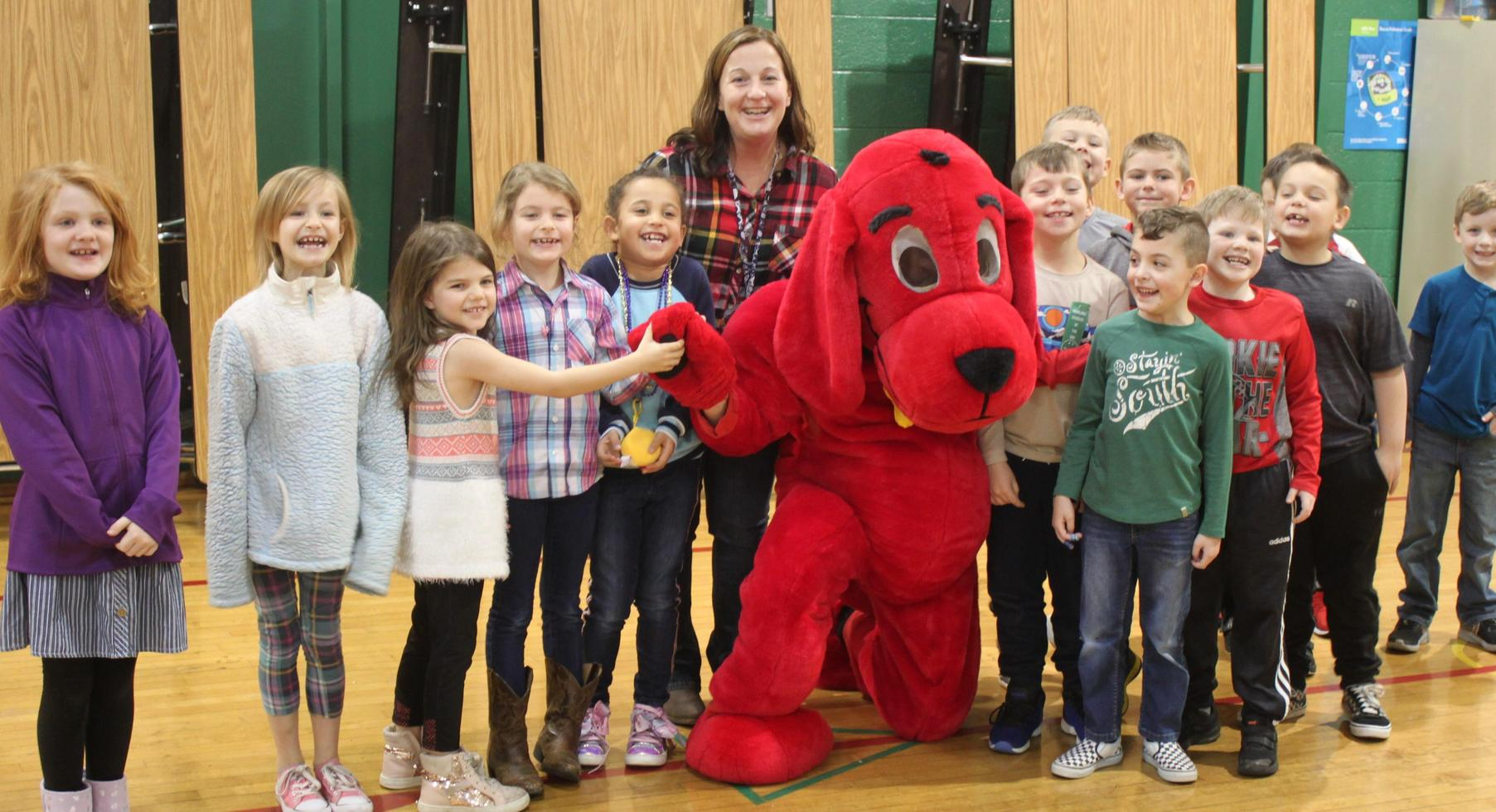 Clifford the big Red Dog visits