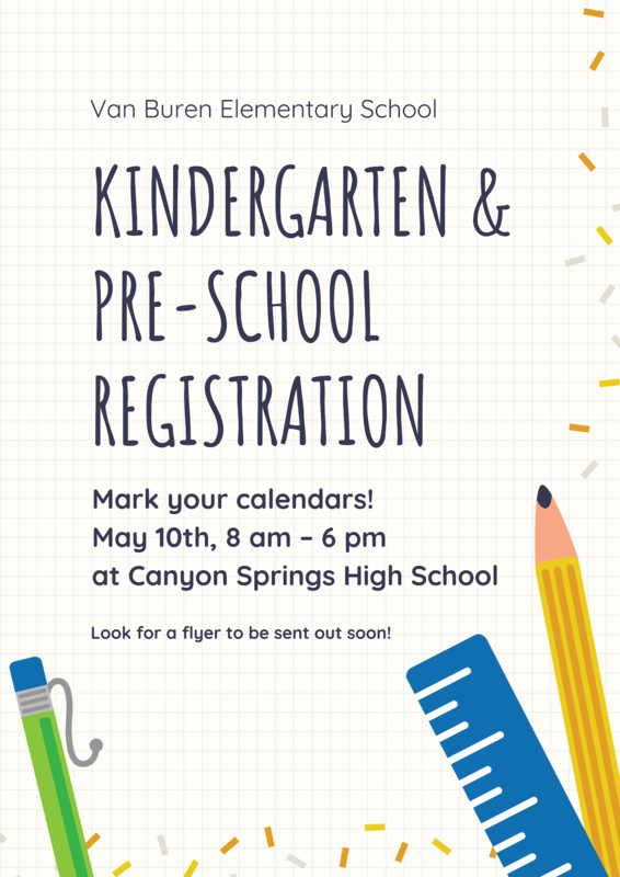 Kinder and Pre-School Registration Thumbnail Image