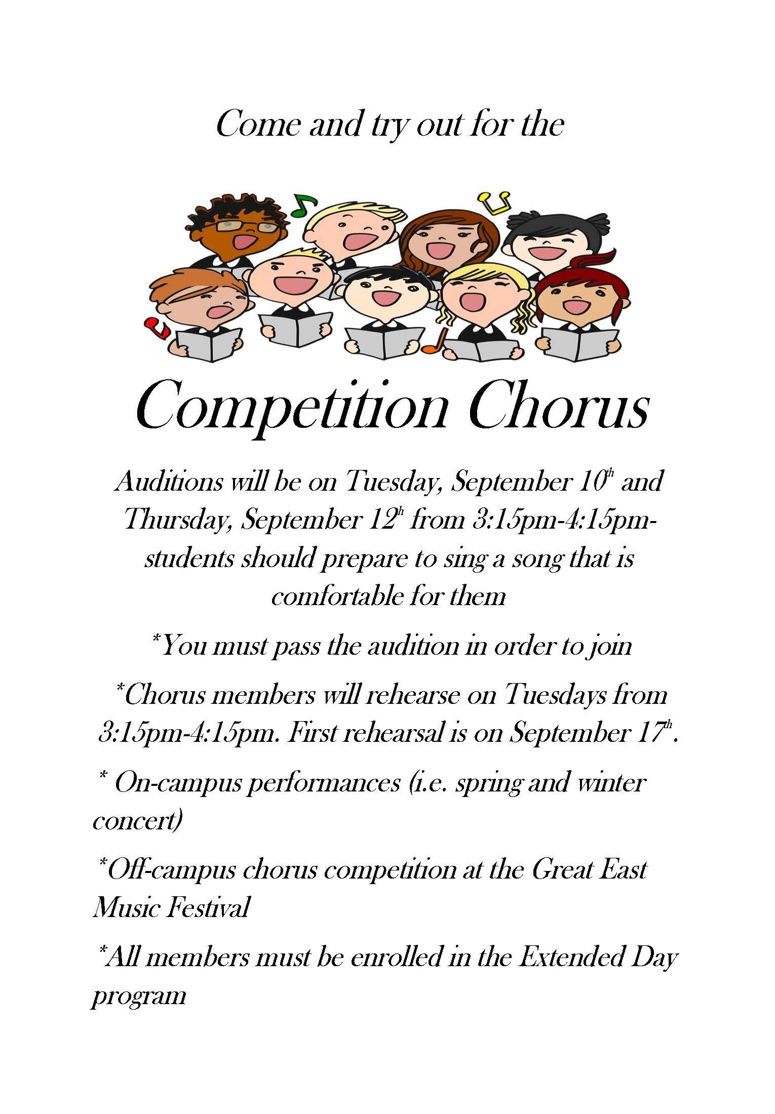 competition chorus tryouts