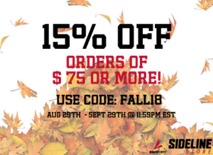 Sideline Store 15% OFF
