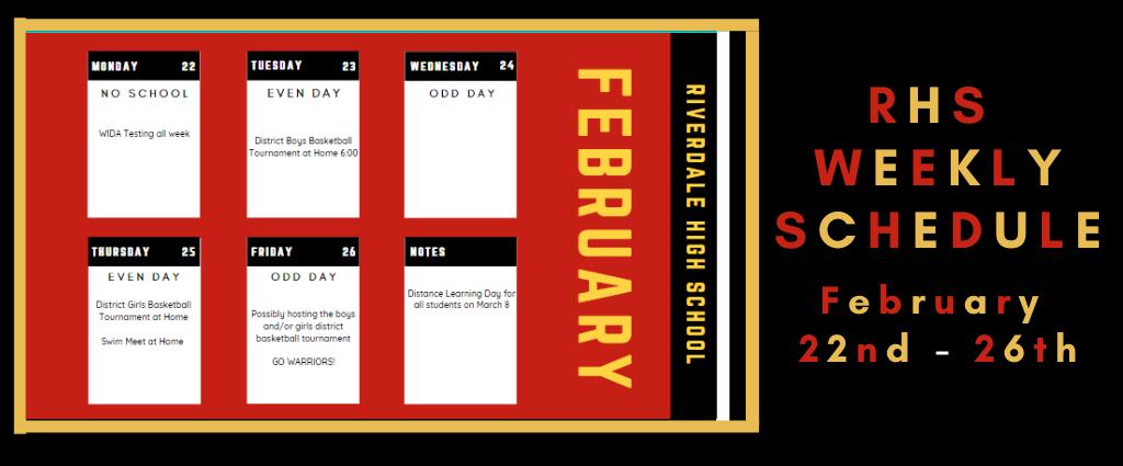 Weekly Schedule 2-22-21