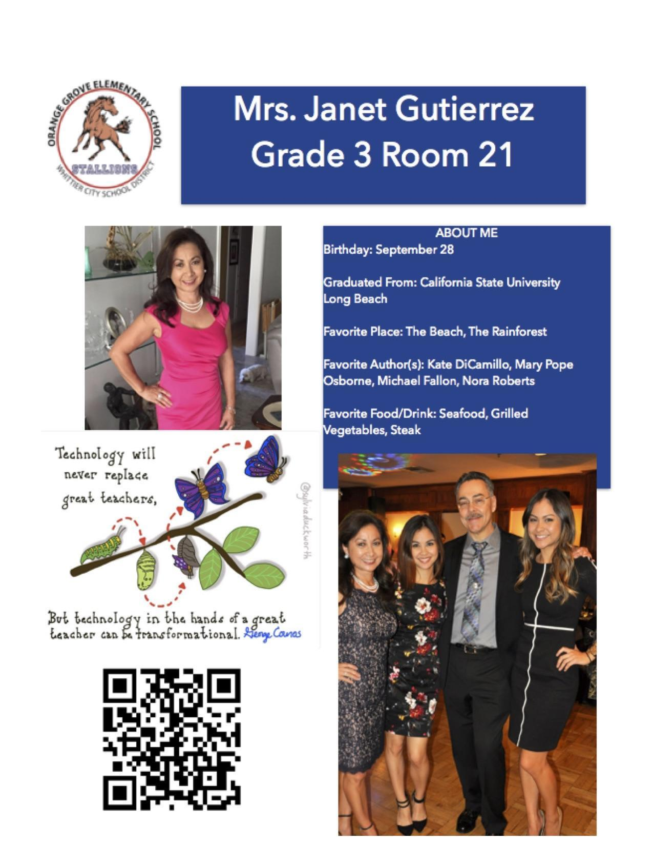 staff flyer for Mrs. Gutierrez