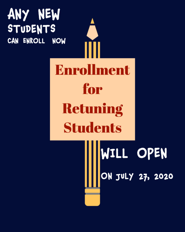 Enrollment for returning students Featured Photo