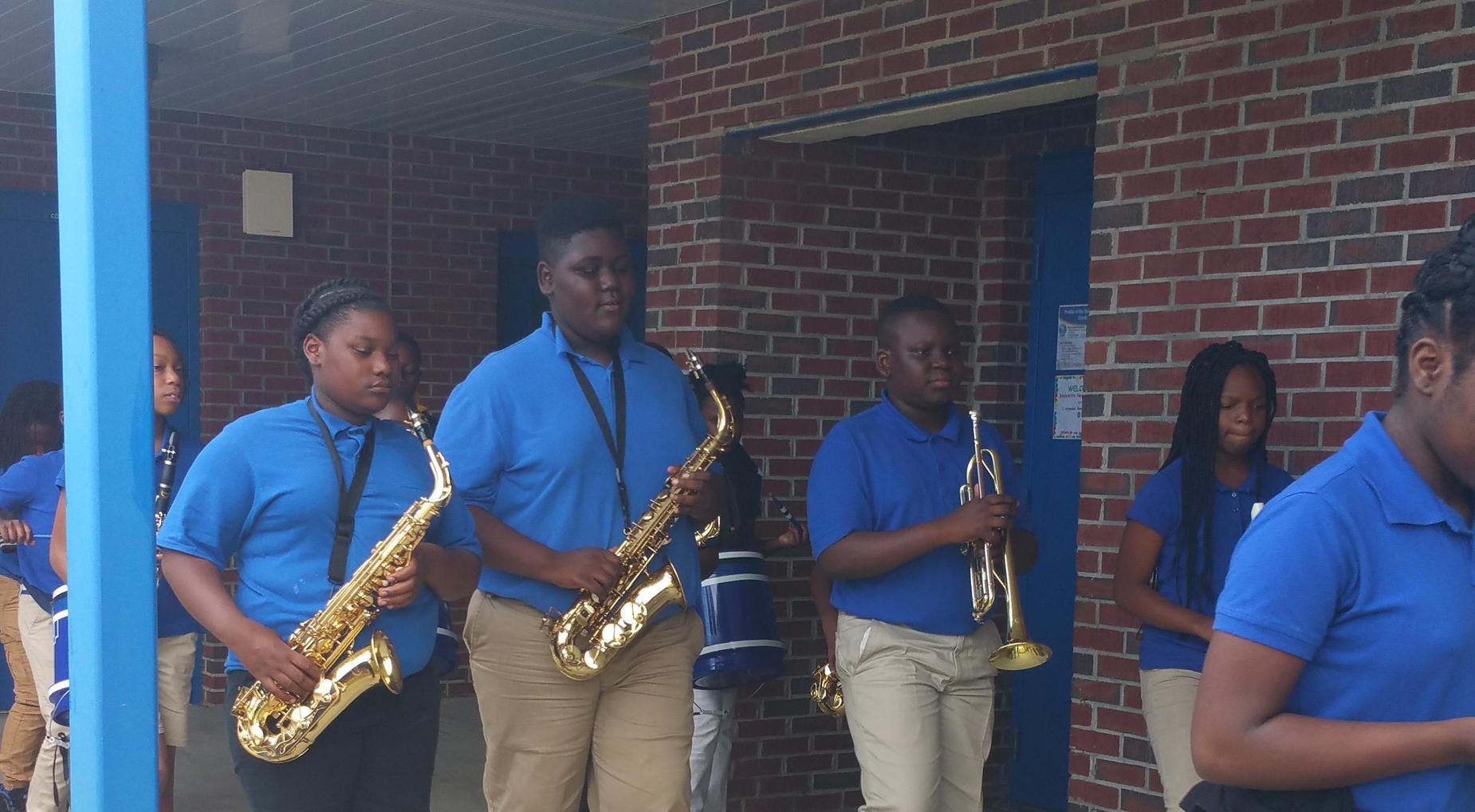 Lower Lee Elementary school band