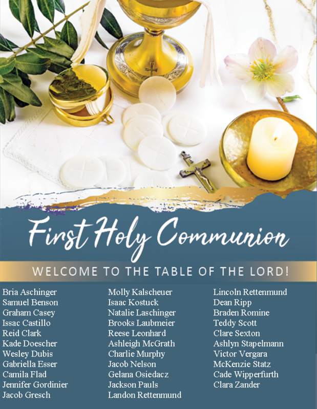 Congratulations First Communicants Thumbnail Image