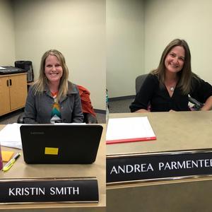 Board members Kristin Smith and Andrea Parmenter