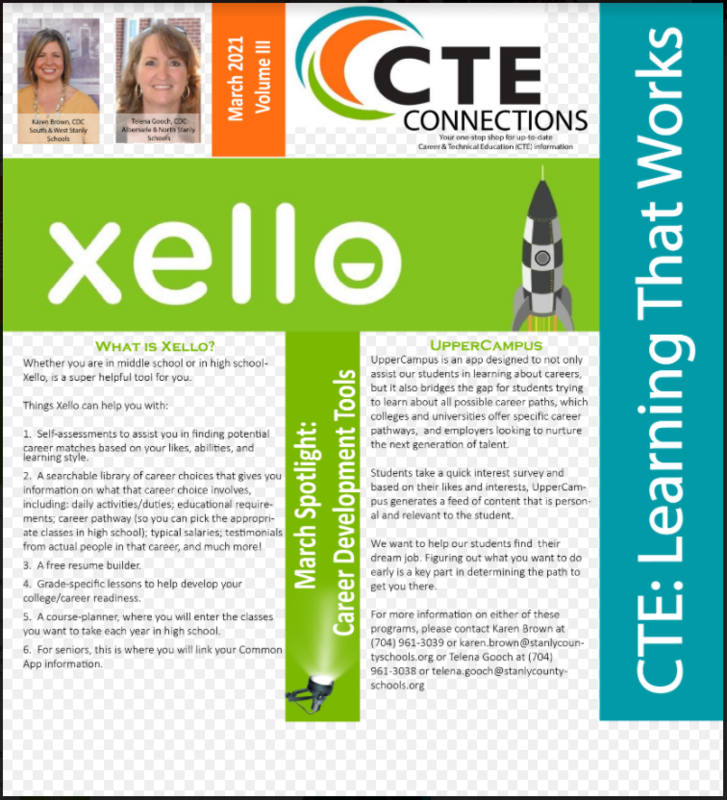 CTE Connections March 2021 Newsletter Vol. 3 Featured Photo