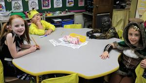 McKinley 2nd graders enjoy classroom Halloween party.