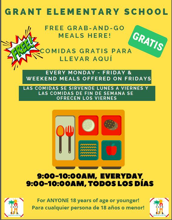 Grant Grab-and-Go Meal Program/Programa de Grant de Comida Para Llevar Featured Photo