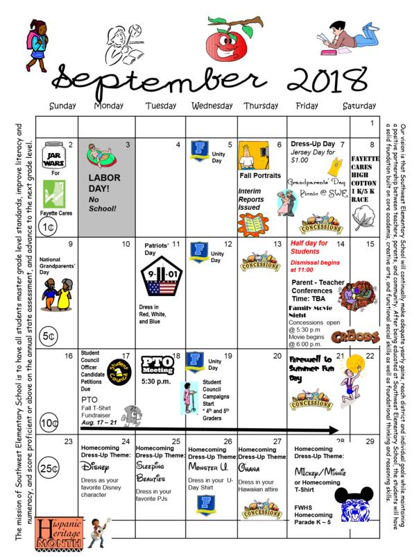 September 2018 Calendar Thumbnail Image