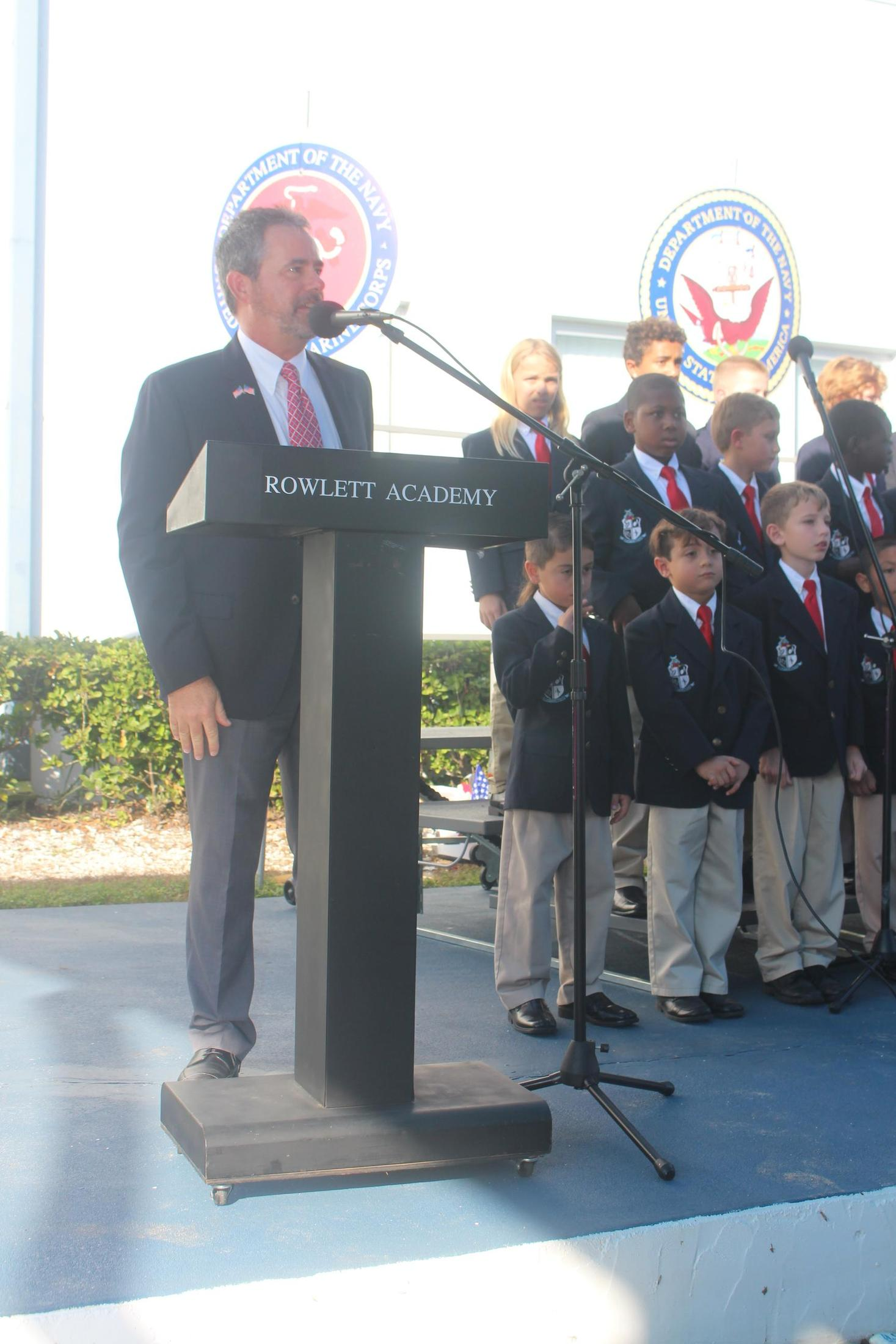 fradley at podium