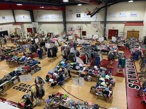 James River Day School's annual yard sale, which is run by the Parents' Association.