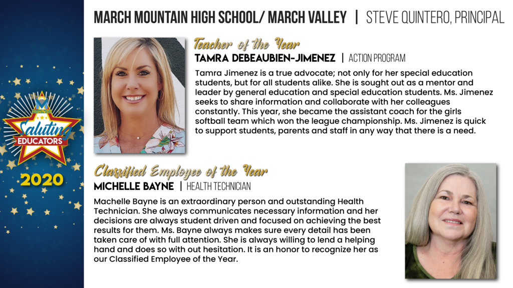 March Mountain High School/March Valley Employees of the Year