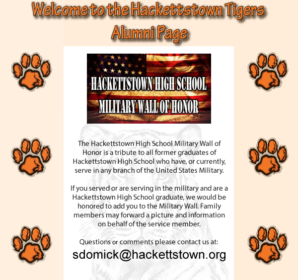 Hackettstown Tiger Alumni