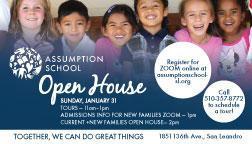Open House January 31 virtual