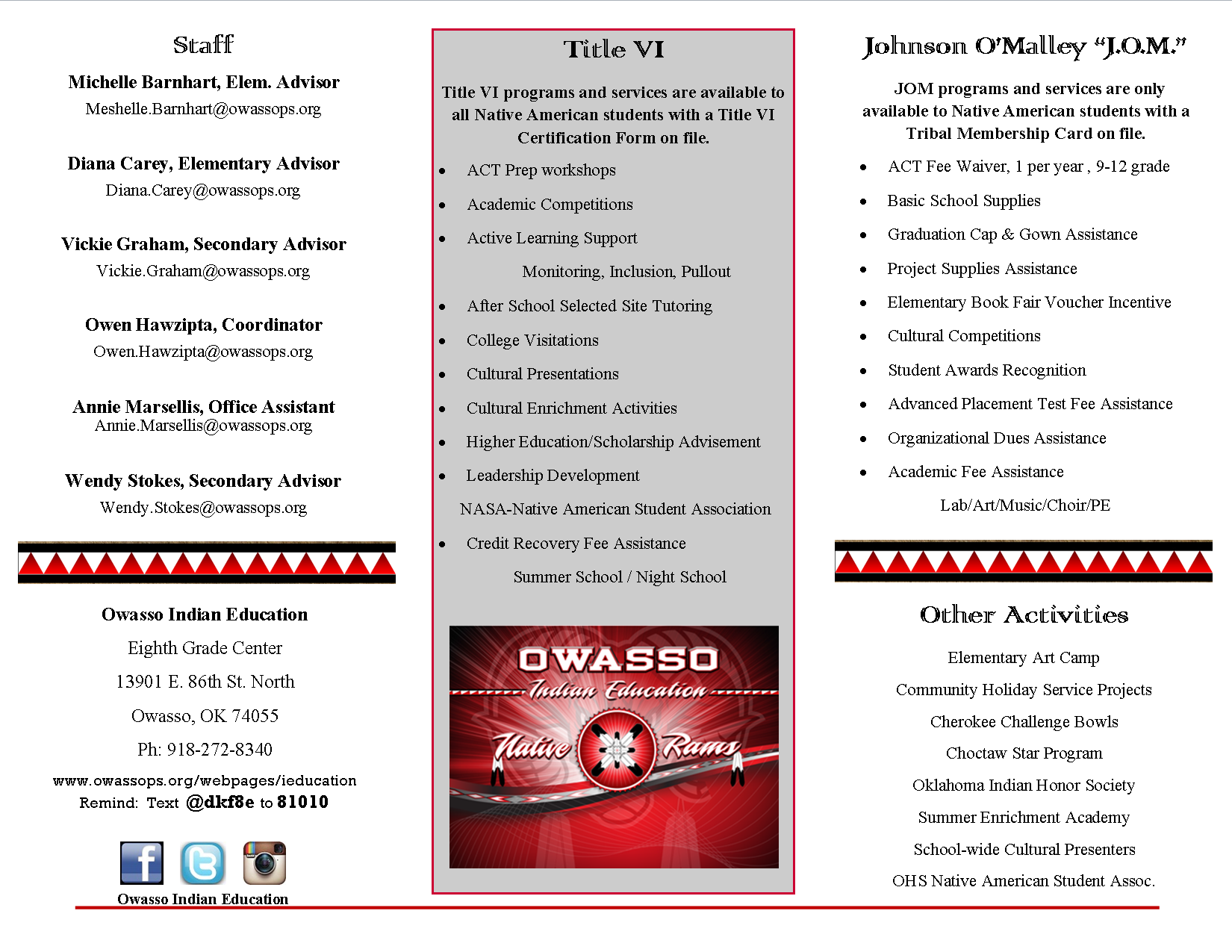 Owasso Indian Ed Services