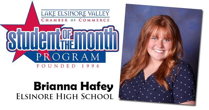 Brianna Havey, EHS Student of the Month, November 10, 2020.