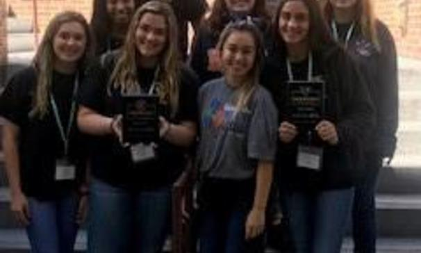 BCHS Beta Club received an awards for Outstanding Leadership School, School of Merit and School of distinction for 2018-2019.