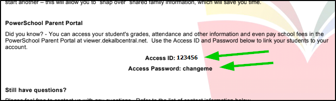 Access ID and Password