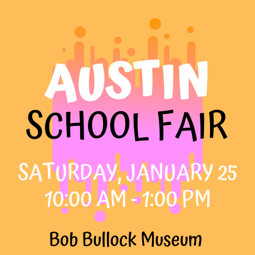 Yellow & Pink Austin School Fair Logo