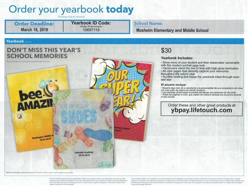 Yearbook Order Code is 10697119 at ybpay.lifetouch.com
