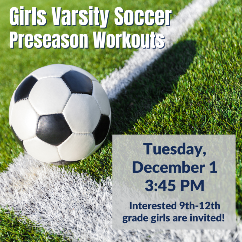 Varsity Girls Soccer Preseason Workouts