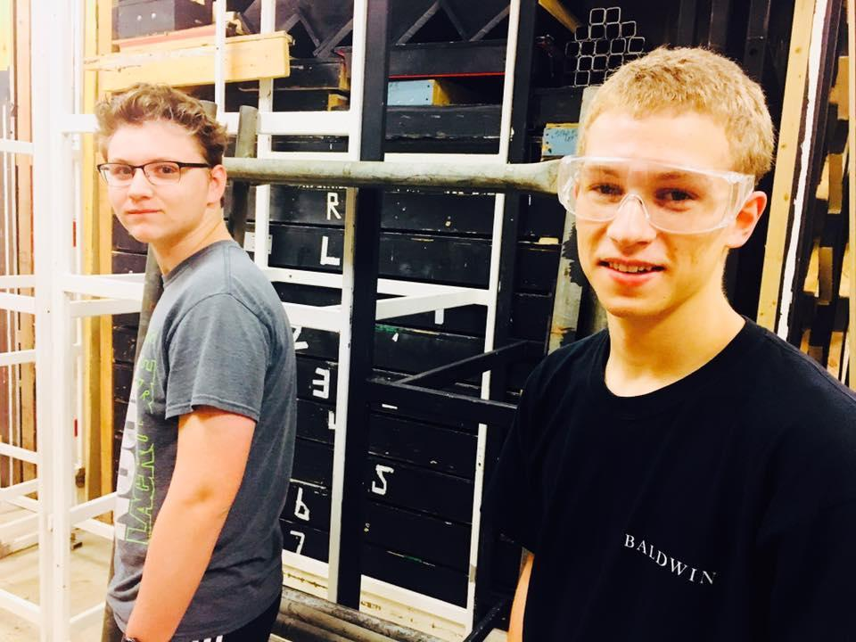 Easton Kauffman (9) & Aaron Good (11) building set pieces