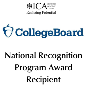 college board logo- national recognition program award