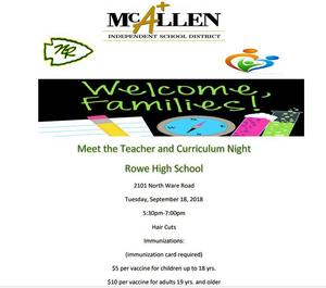 Meet the Teacher Night 2018