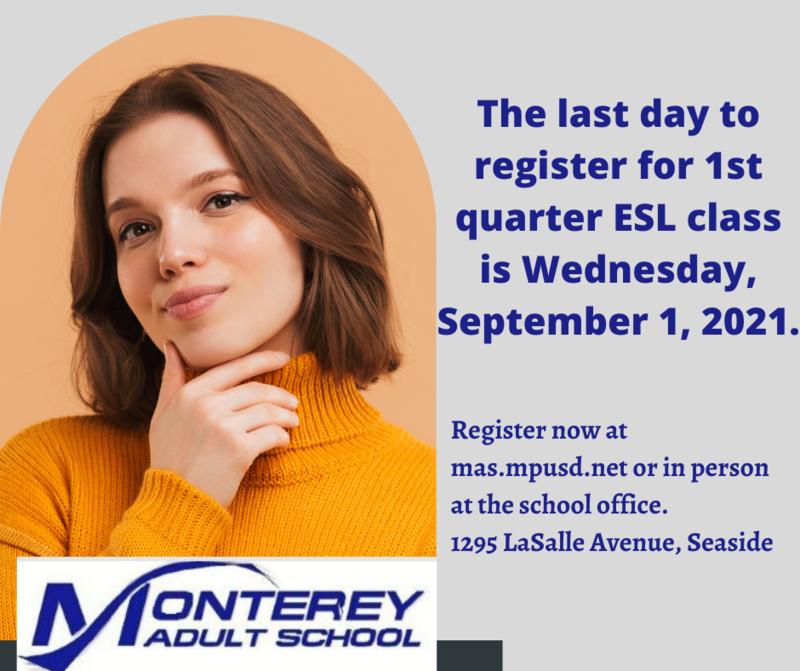 ESL Registration Deadline for 1st Quarter Featured Photo