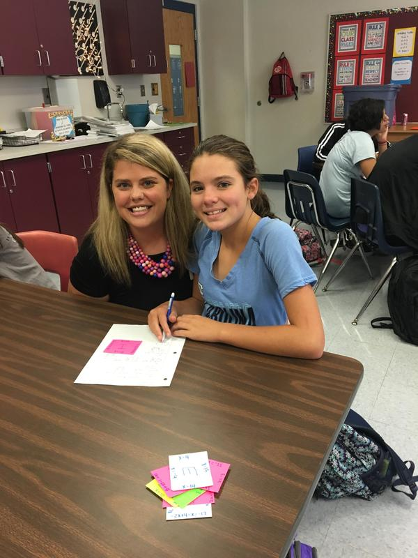 picture of Leigh Anne Orr and student