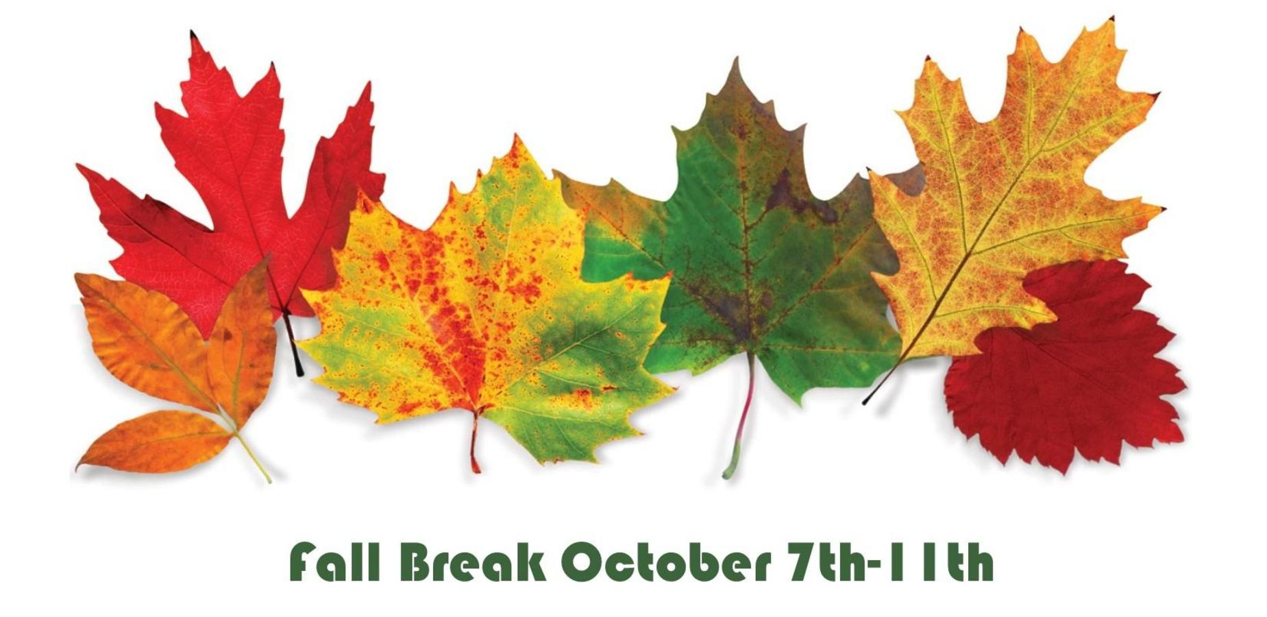 Fall Break October 7th-11th